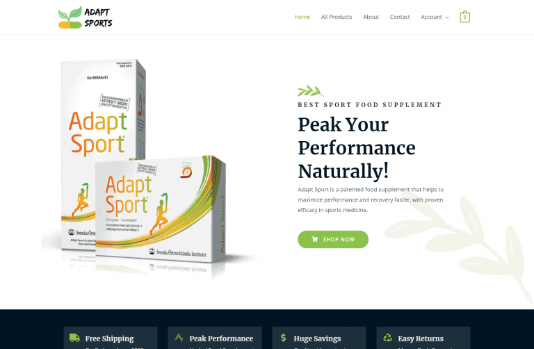 Adapt Sport – Peak Your Performance – Designed by iDesignYours