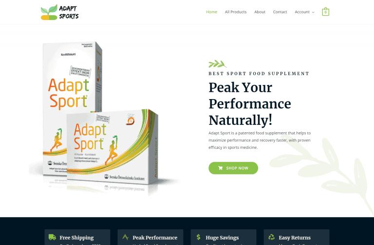 Adapt Sport – Peak Your Performance – Designed by iDesignYours