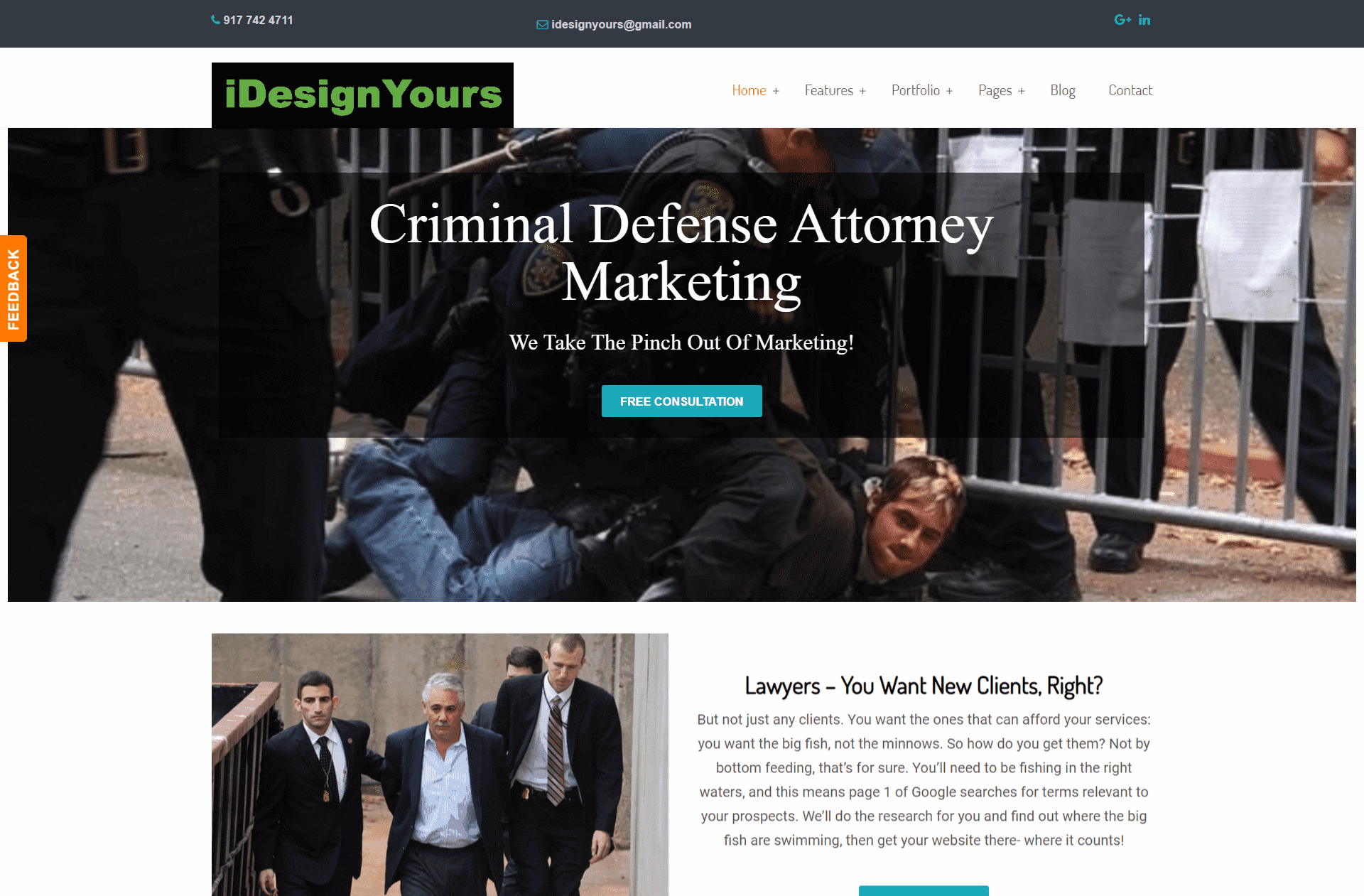 Lawyer website - Designed by iDesignYours