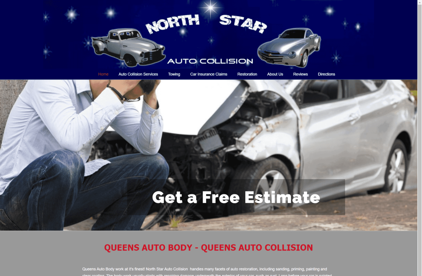 Queens Auto Body - Design by iDesignYours