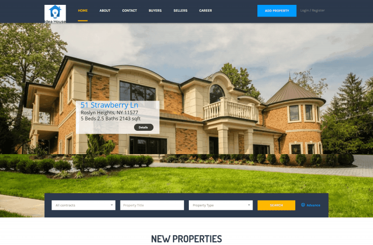 Real Estate Website Designed by iDesignYours