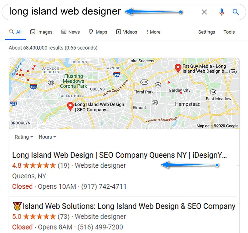 long island seo and web design